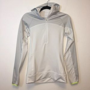 Nike Pro White & Gray Dri Fit Hyperwarm Hoodie